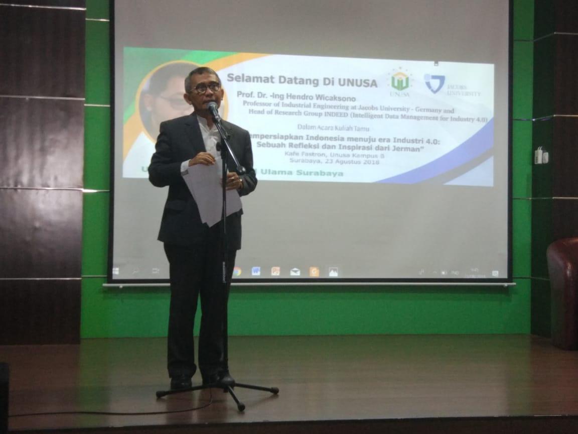 Sambutan dari Rektor UNUSA Rektor UNUSA Prof. Dr. Ir. Achmad Jazidi, M.Eng